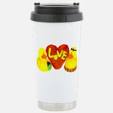 Lovely Valentine Duckies Travel Mug