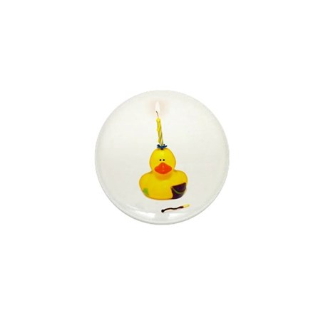 Birthday Duck Mini Button (100 pack)