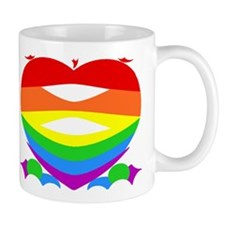 Rainbow Heart Artsy Mug