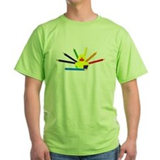Colorful Duck with rainbow pencils T-Shirt