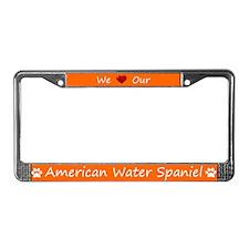 Orange We Love Our American Water Spaniel Frame