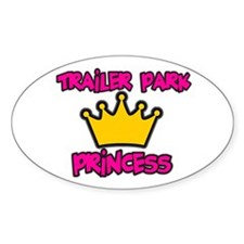Trailer Park Oval Sticker