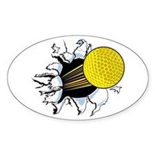 Golf Shot Oval Decal