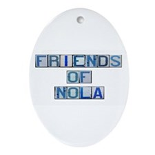 Friends of NOLA Oval Ornament