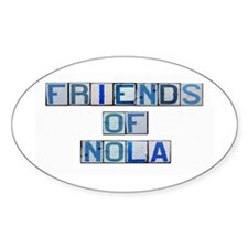 Friends of NOLA Oval Decal