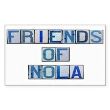 Friends of NOLA Rectangle Decal