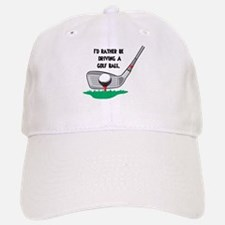 Driving a Golf Ball Baseball Baseball Cap
