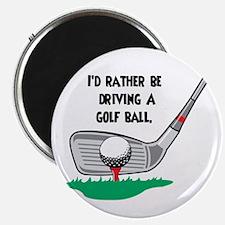 Driving a Golf Ball Magnet