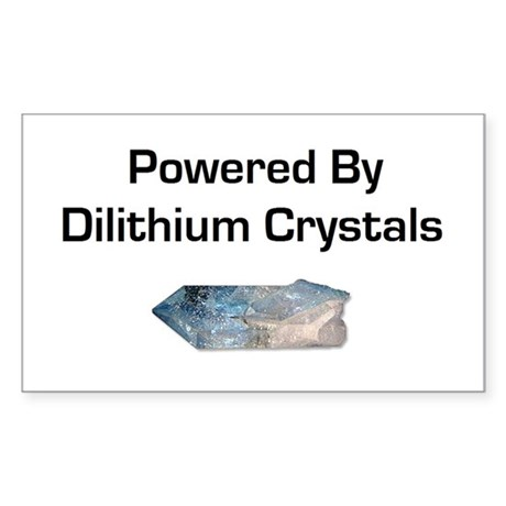 Powered by dilithium crystals Sticker (Rectangle)