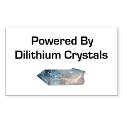 Powered by dilithium crystals Decal