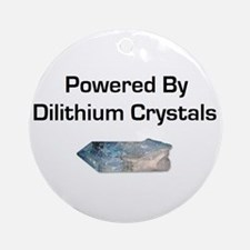 Powered by dilithium crystals Ornament (Round)