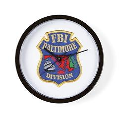 FBI Baltimore Division Wall Clock