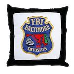 FBI Baltimore Division Throw Pillow
