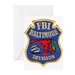 FBI Baltimore Division Greeting Cards (Pk of 20)