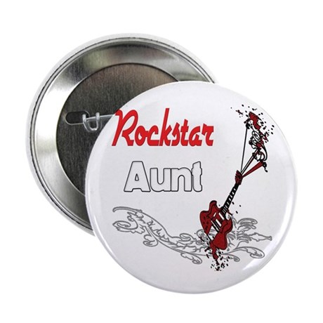"Rockstar Aunt 2.25"" Button (10 pack)"