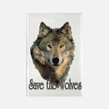 Save Wolves Rectangle Magnet