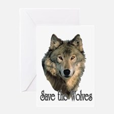 Save Wolves Greeting Card