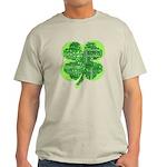 Giant Shamrock Happy Birthday Light T-Shirt