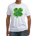 Giant Shamrock Happy Birthday Fitted T-Shirt
