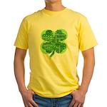 Giant Shamrock Happy Birthday Yellow T-Shirt