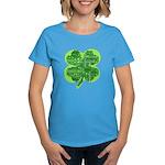 Giant Shamrock Happy Birthday Women's Dark T-Shirt