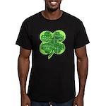 Giant Shamrock Happy Birthday Men's Fitted T-Shirt