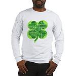 Giant Shamrock Happy Birthday Long Sleeve T-Shirt