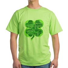 Giant Shamrock Happy Birthday T-Shirt