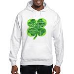 Giant Shamrock Happy Birthday Hooded Sweatshirt