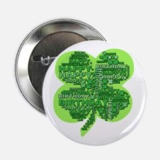 "Giant Shamrock Happy Birthday 2.25"" Button"