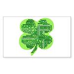 Giant Shamrock Happy Birthday Sticker (Rectangle 5