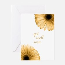 """Get Well Soon"" Shimmer Daisy Cards (6)"
