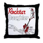 Rockstar Daughter Throw Pillow