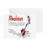 Rockstar Daughter Greeting Cards (Pk of 10)