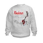 Rockstar Daughter Kids Sweatshirt