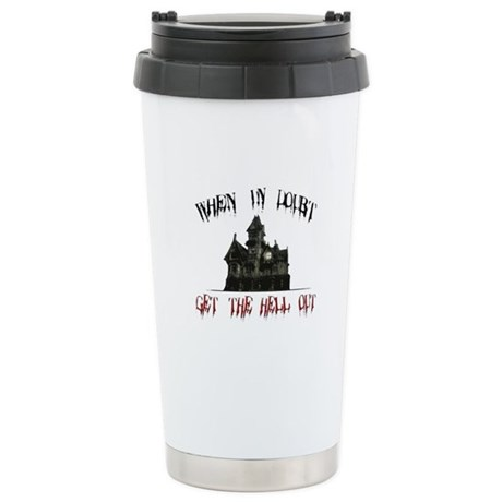 Ghosts Stainless Steel Travel Mug