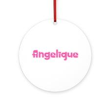 """Angelique"" Ornament (Round)"