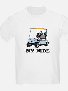 Golf Cart is My Ride  Kids T-Shirt