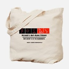 Richard's anti-aging creams Tote Bag