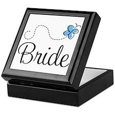 Blue BRIDE Keepsake Box