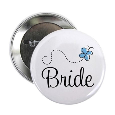 "Blue BRIDE 2.25"" Button"
