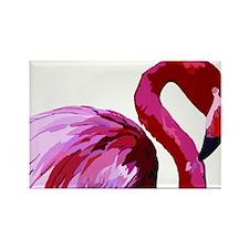 Cute Flamingo florida Rectangle Magnet