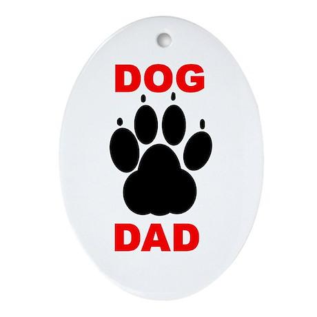 Dog Dad Ornament (Oval)