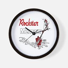 Rockstar Memaw Wall Clock