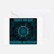 Trust No One - Dharma Num 2 Greeting Cards (Pk of