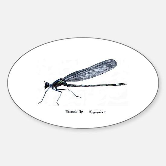Damselfly Sticker (Oval)