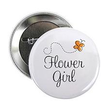 """Cute Flower Girl 2.25"""" Button"""