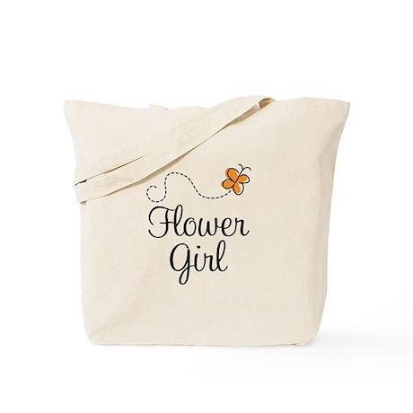 Cute Flower Girl Tote Bag