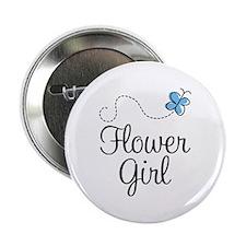 "Pretty Flower Girl 2.25"" Button"