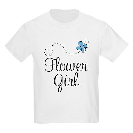Pretty Flower Girl Kids Light T-Shirt